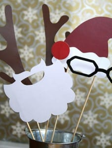 Printable holiday props