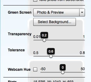 Sparkbooth green screen settings
