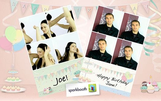 Sparkbooth Birthday Party Theme